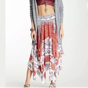 Free People Maxi skirt fly away  handkerchief
